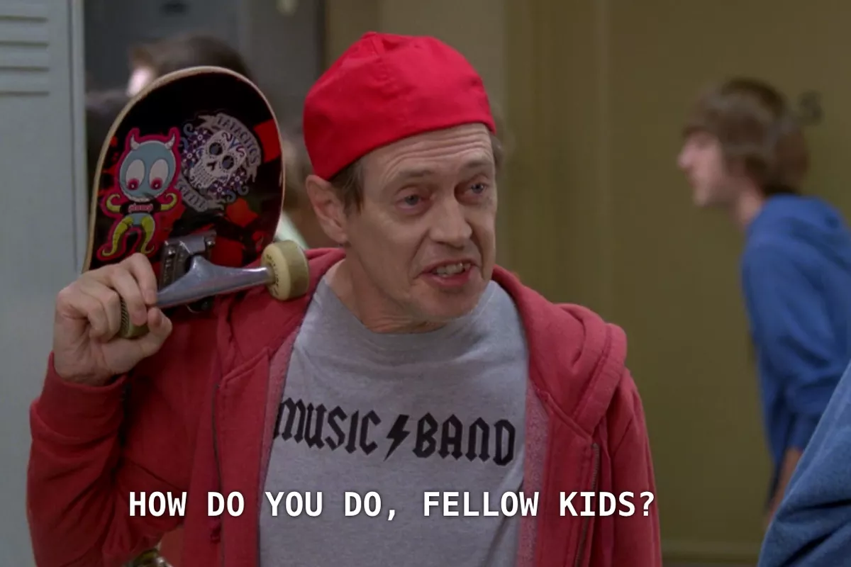 the how do you do fellow kids meme, representing stores being on trend