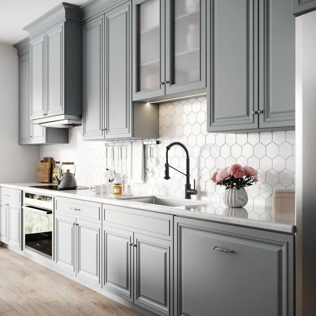 Grey Kitchen Ideas That Are Sophisticated And Stylish: 25+ Ways To Style Grey Kitchen Cabinets