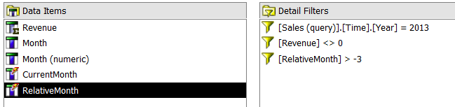 cognos master detail relationship between queries based