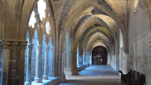 Claustro del Monasterio de Veruela, en Vera de Moncayo (Zaragoza)