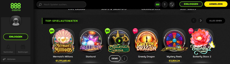 Öffentliche Casino 888 Spiele