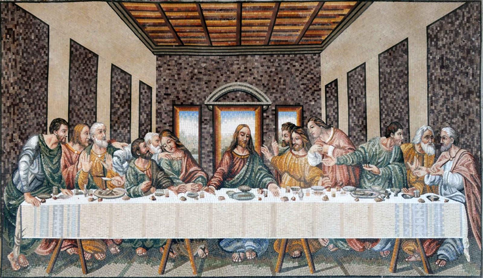 The Last Supper by Leonardo da Vince Mosaic Reproduction