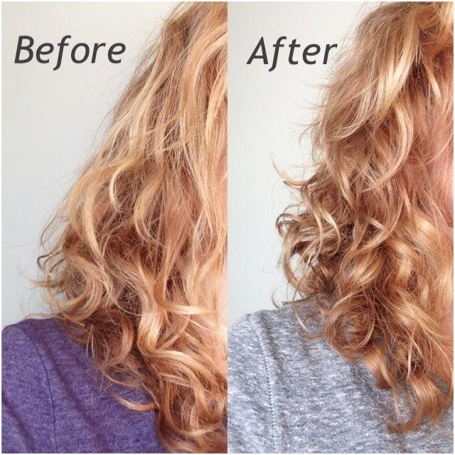 before and after photos of using apple cider vinegar