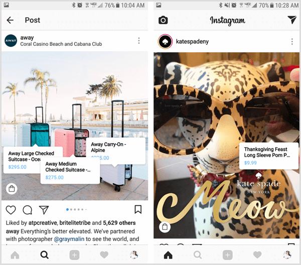 away instagram social commerce