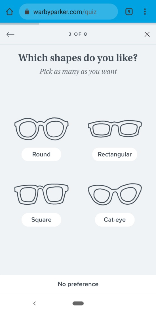 warby-parker buyer's journey with email