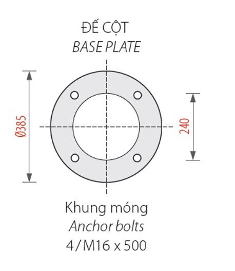 Cột đèn sân vườn Banian DC 07  lắp đèn nữ hoàng Phan Nguyễn