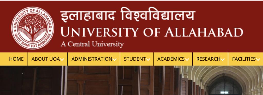 Allahabad University website