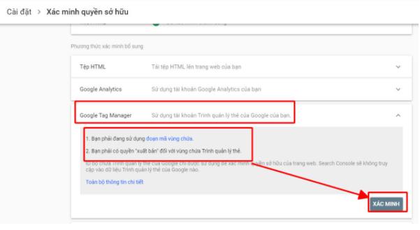 Có nhiều cách để setup google webmaster tools Tool