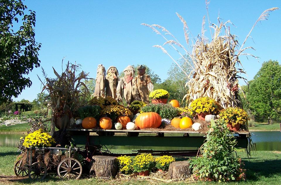 Free photo: Autumn, Fall, Pond, Scarecrows - Free Image on Pixabay ...