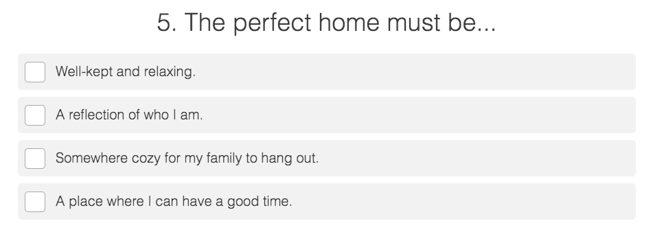 perfect home questions