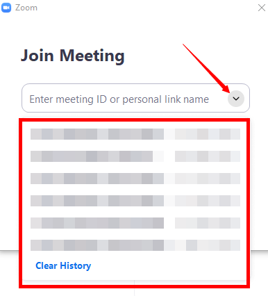 zoom meeting ID history