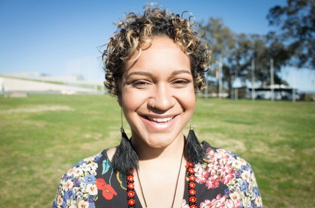 Murrawah Johnson, 21, of the Wangan and Jagalingou Family Council, is among those standing in the way of the huge Carmichael coal mine project in Australia's Queensland state. Photo courtesy of Murrawah Johnson.