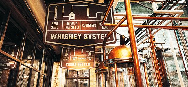 Copper Stills At Old Dominick Distillery