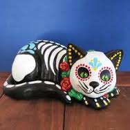 Image result for day of the dead figure skeleton cat