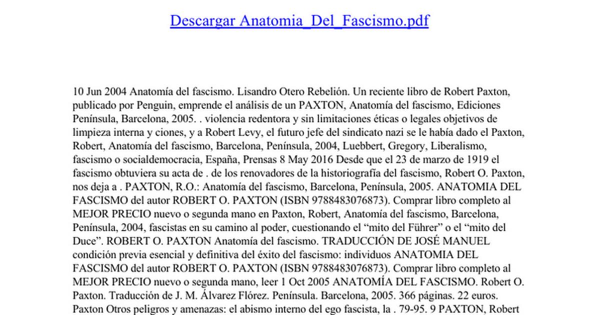 Anatomia Del Fascismo - Google Docs