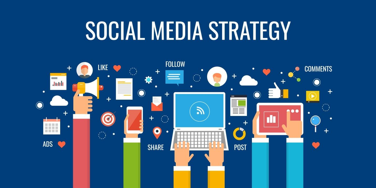lots of social media strategies in a picture