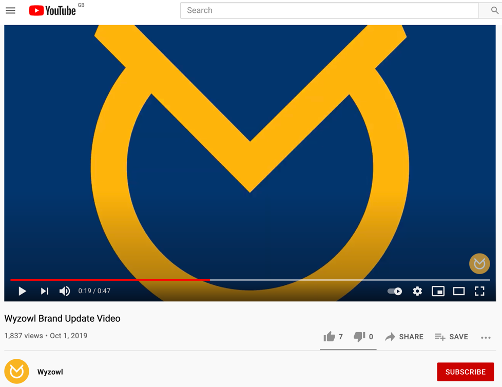 Wyzowl video on YouTube