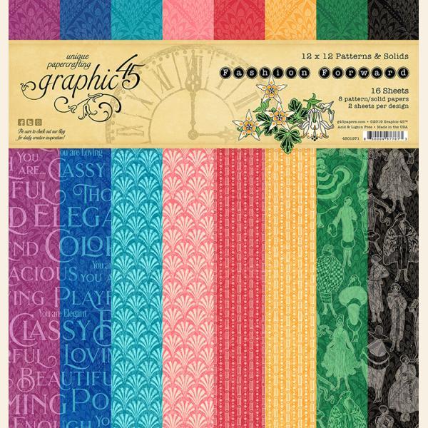 Fashion Forward 12x12 Patterns & Solid Pad