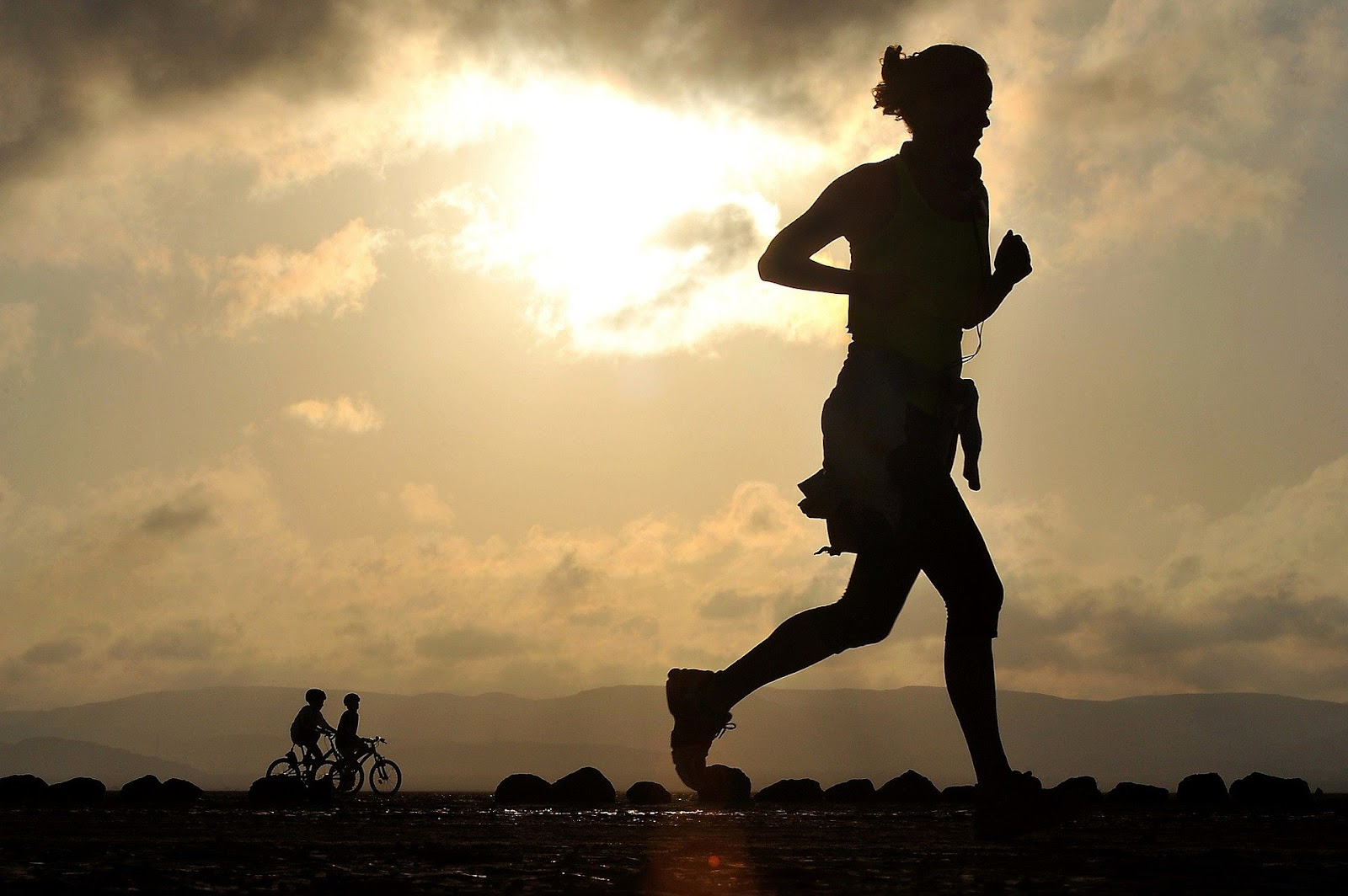 Running is a good way to get outside safely, exercise and clear one's mind.