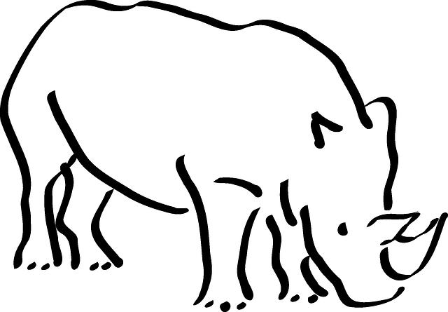 Vector gratis: Rinoceronte