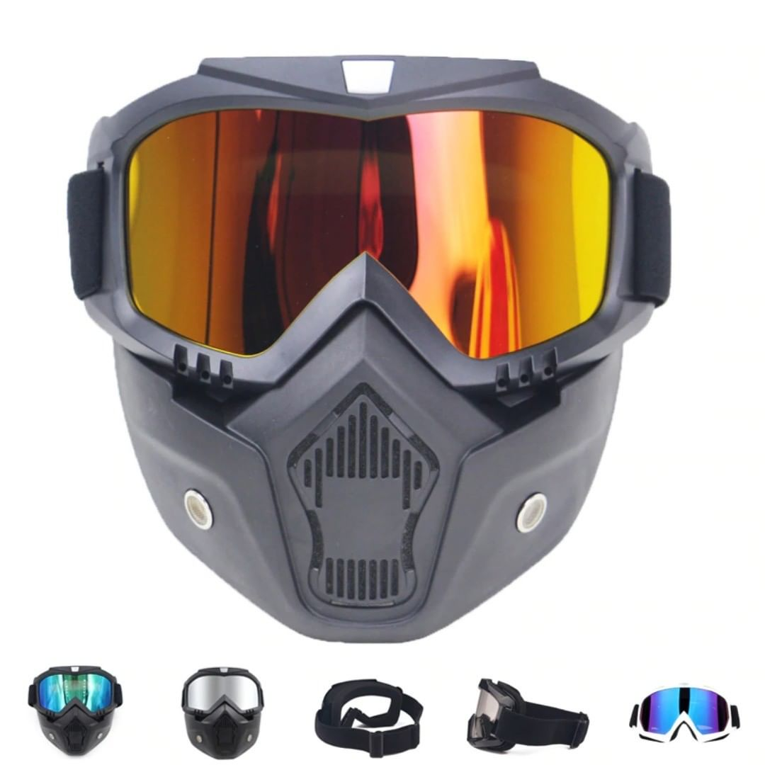 Ski Snowboard Mask With Goggles And Mouth Filter For Men And Women