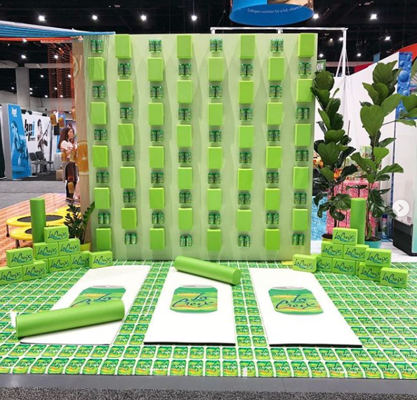 a green trade show booth