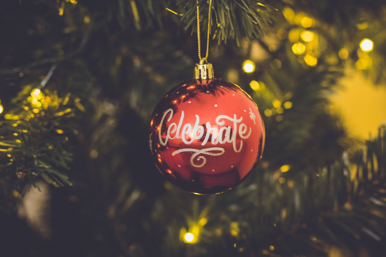 Celebrate holiday ornament