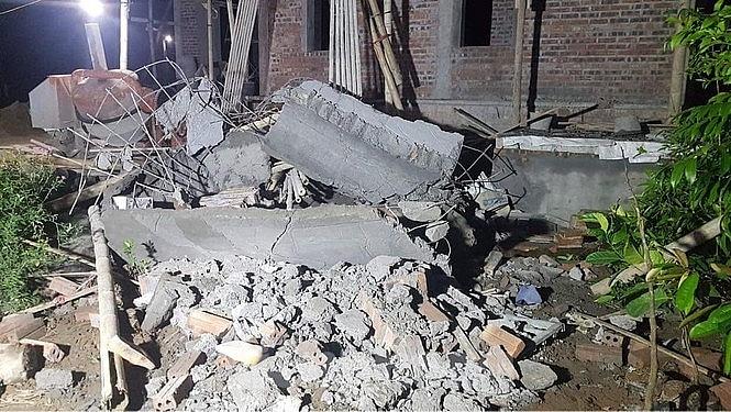 Thái Bình: Sập mái nhà đang thi công, 2 thợ xây tử vong - Ảnh 2