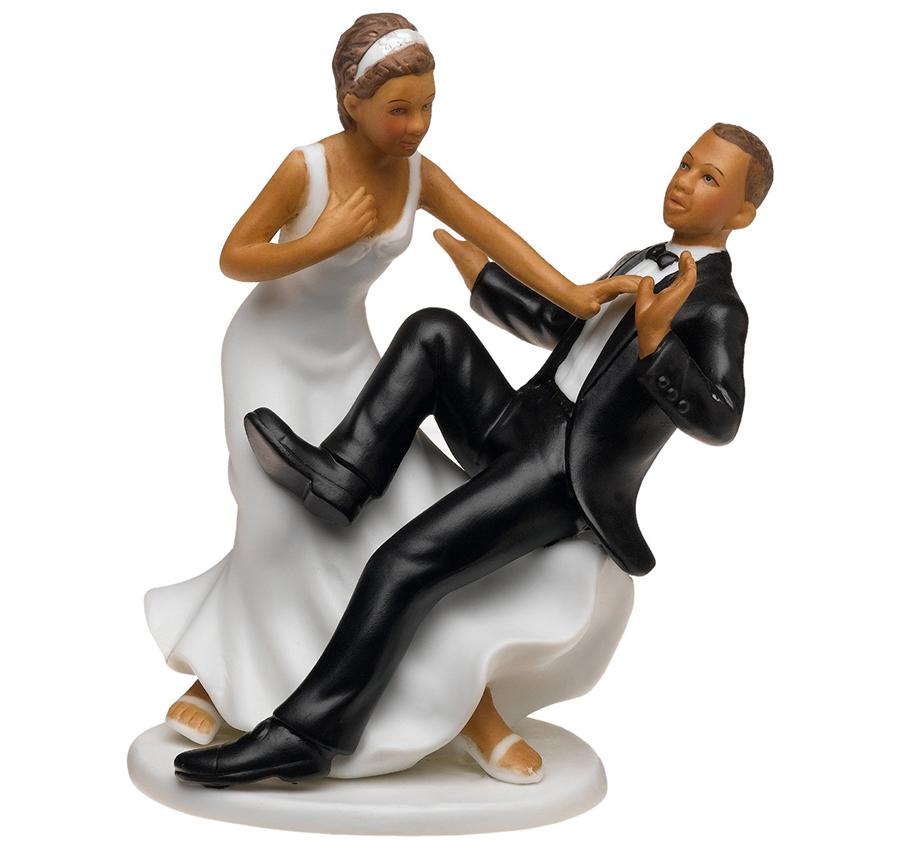 emotional take the plunge wedding topper