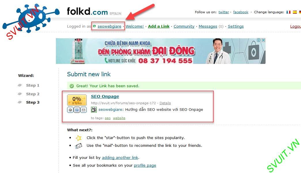 Backlink trên Folkd.com 8