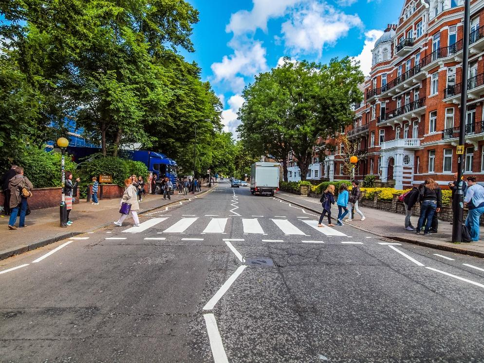 Abbey Road crossing in London