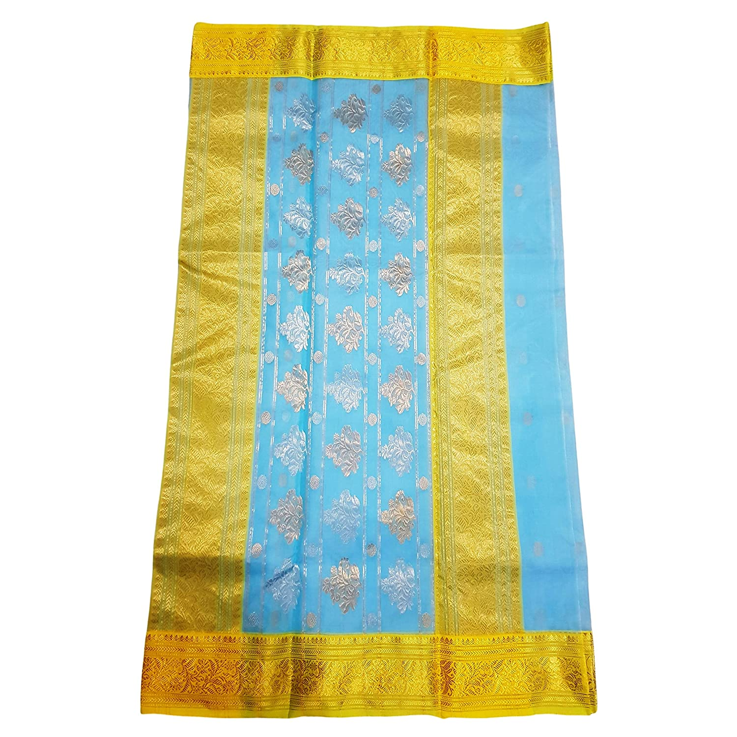 Chanderi Handwoven Tissue Silk Saree
