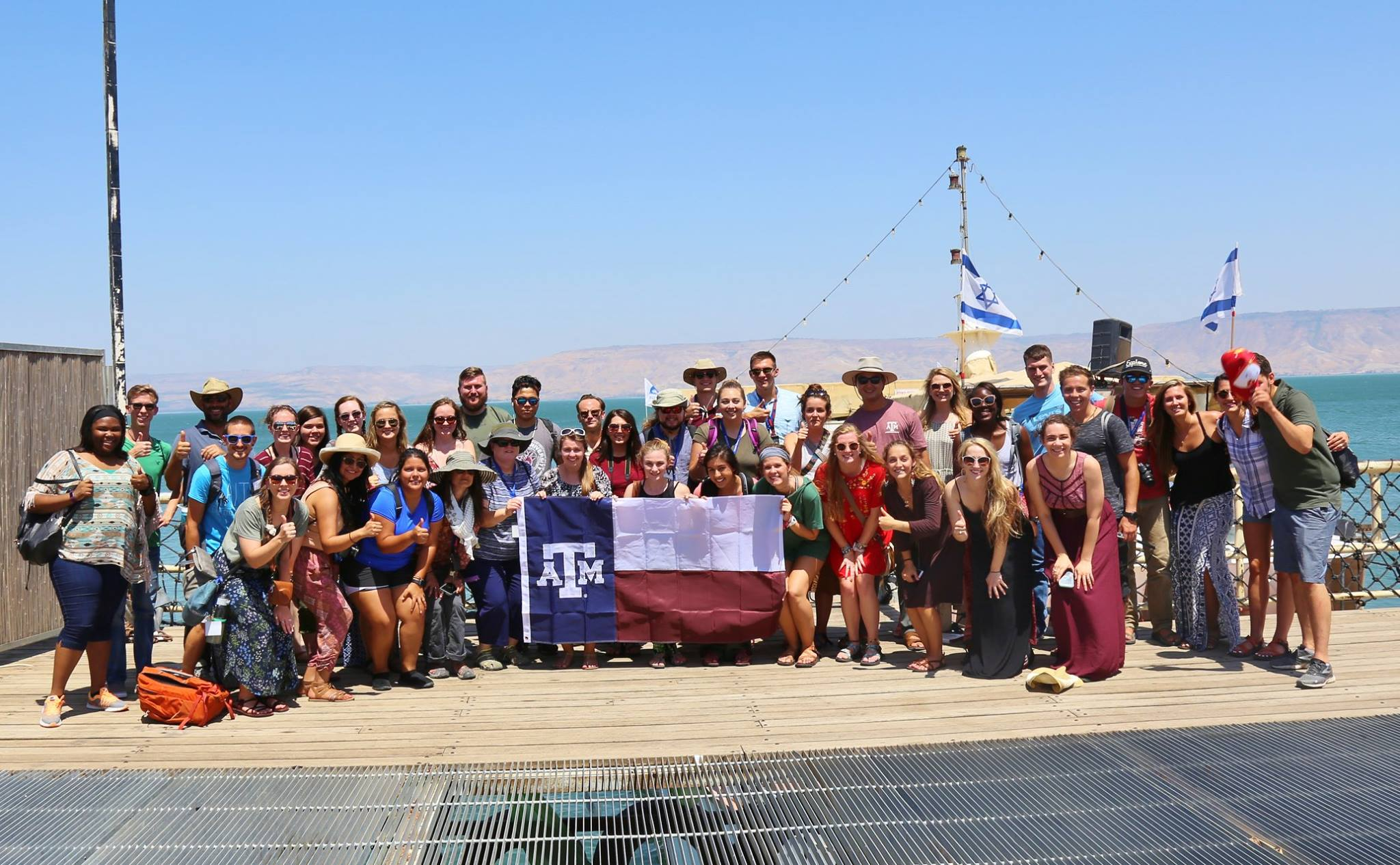 The 2017 Texas A&M Passages Israel Trip, Sea of Galilee, July 19, 2017