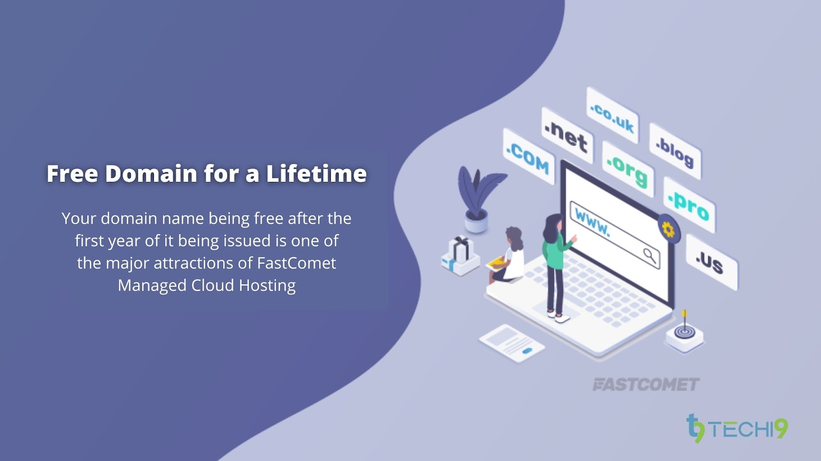 FastComet - Free Domain for a Lifetime