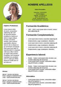 plantillas curriculum openoffice gratis