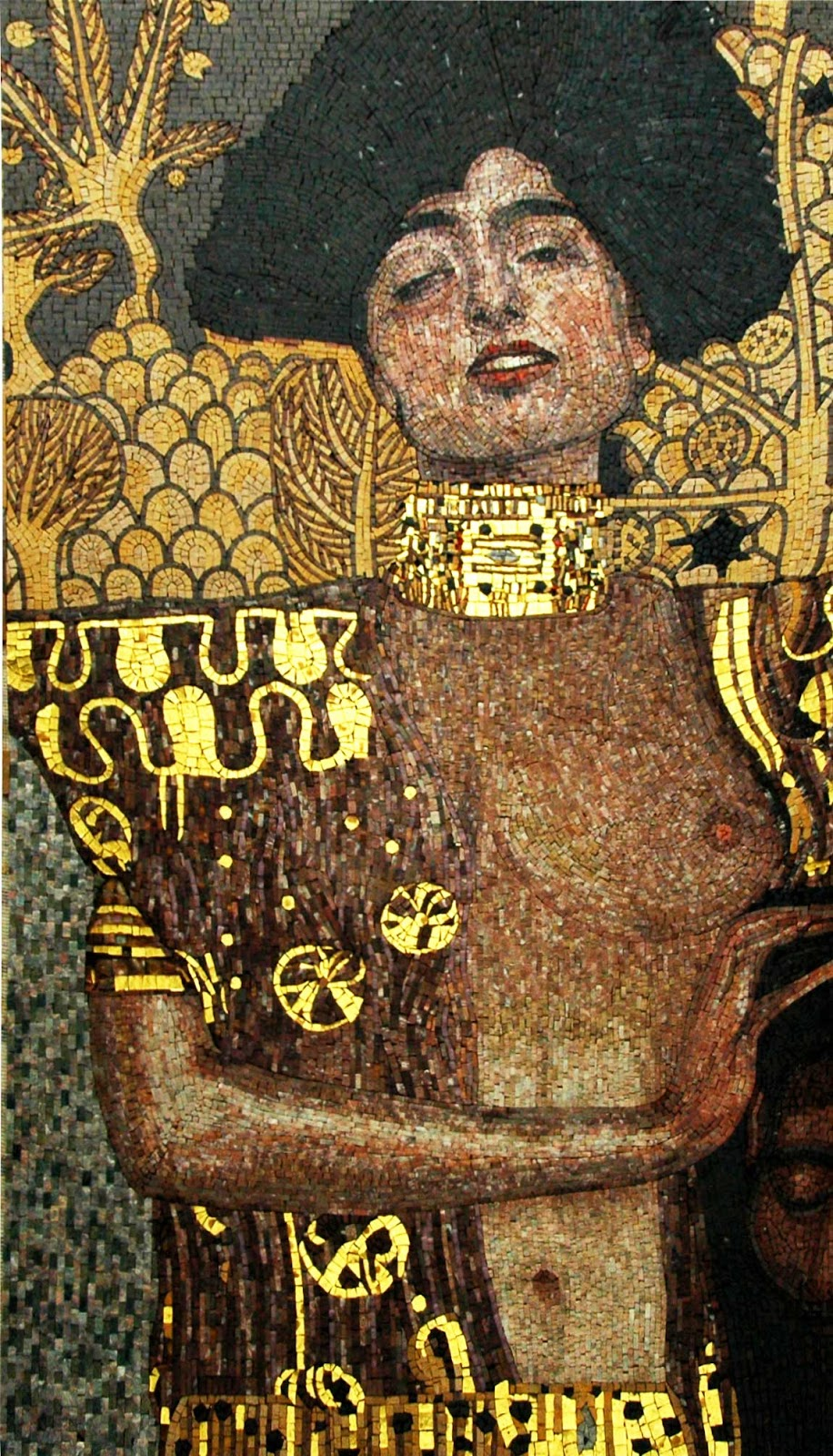 """Judith and the Holofernes"""" by Gustav Klimt - Mosaic Art Reproduction"""
