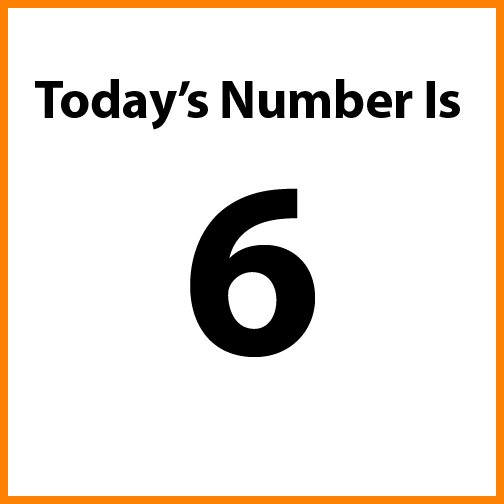 Today's number is 6.
