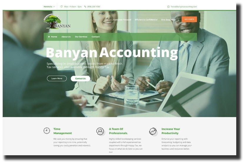 Banyan Accounting web design
