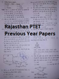 Rajasthan PTET Previous Year Papers