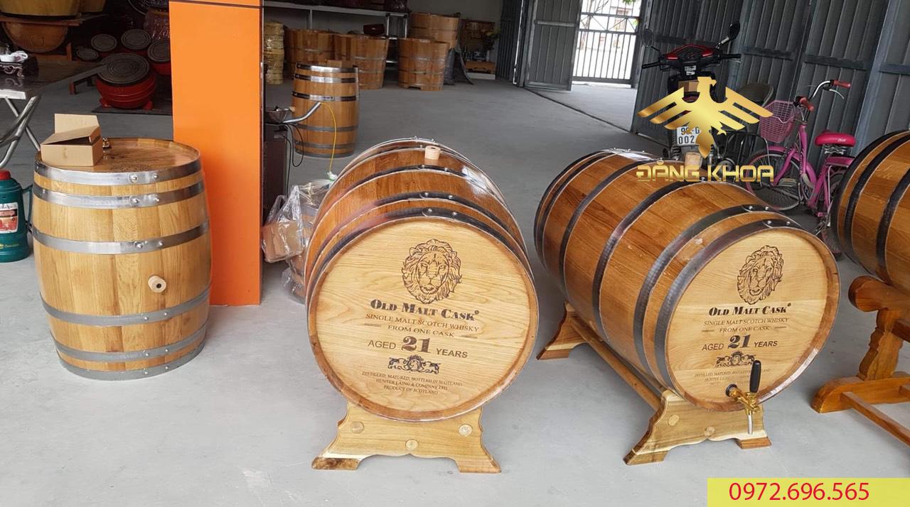 Thùng gỗ đựng rượu có nhiều lợi ích cho người sử dụng
