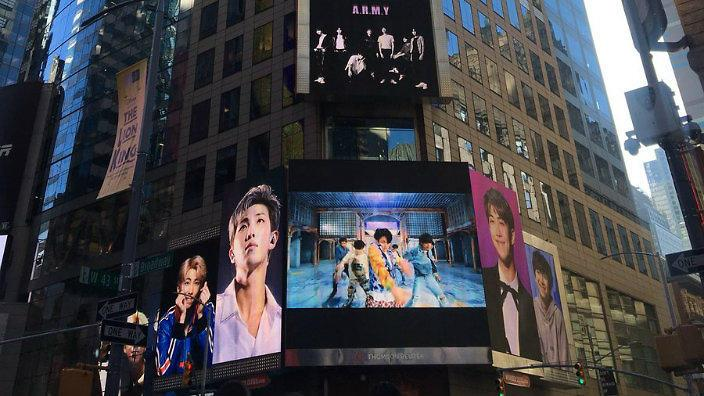 Image result for new york times square fan billboard