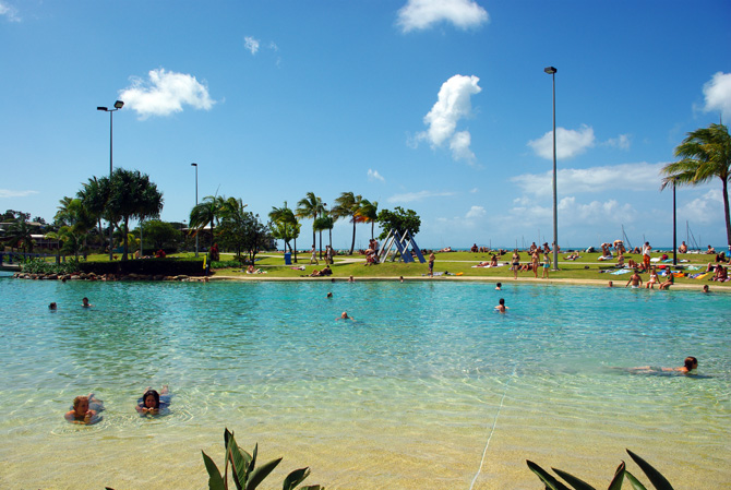 Go for a swim at the Airlie Beach Lagoon
