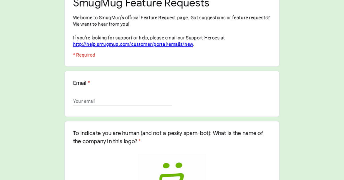 SmugMug Feature Requests