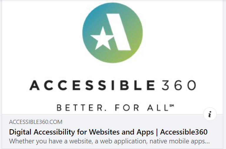 Accessible360 logo is above A360 preview text