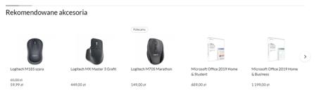 podobne produkty e-sklep - struktura strony www