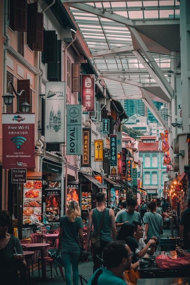 A street in Singapore
