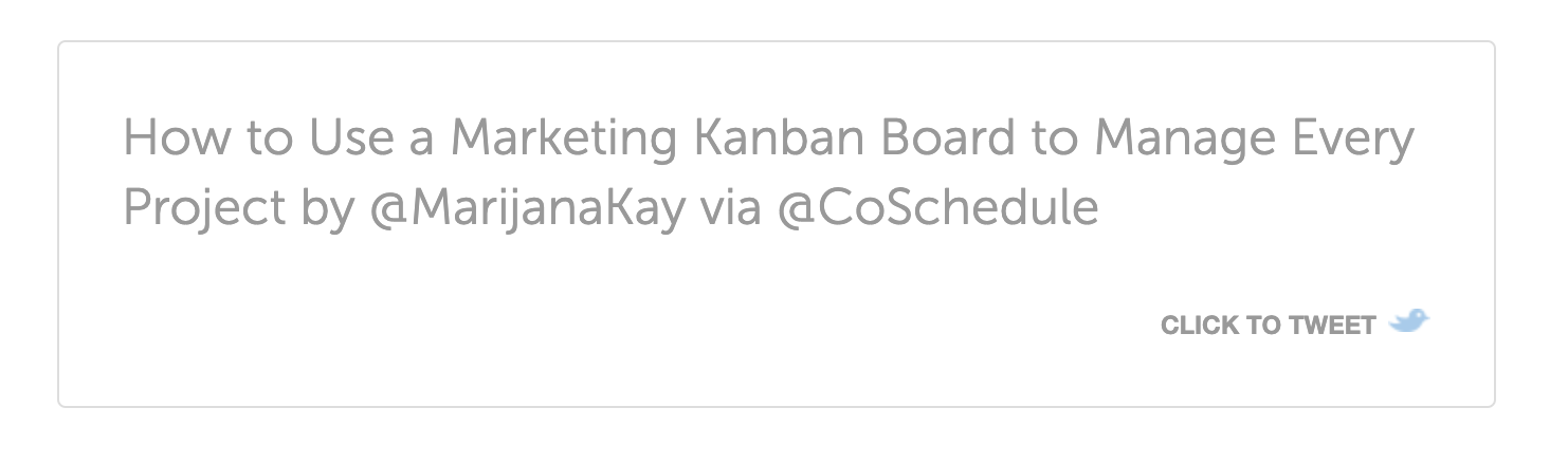 Screenshot of a click-to-tweet feature from CoSchedule.