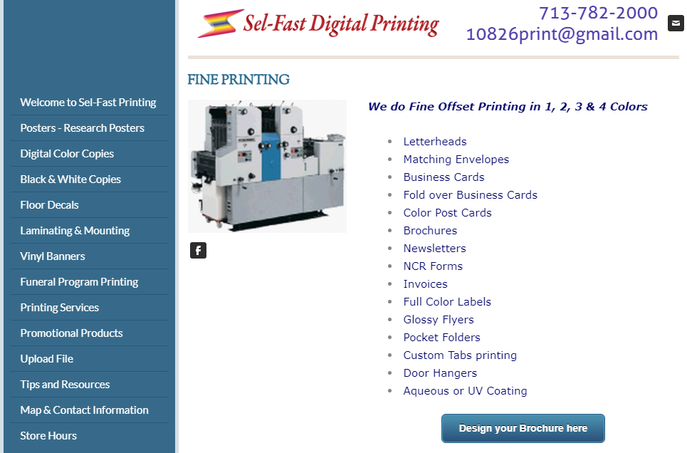 Sel-Fast Digital printing services in Houston, TX