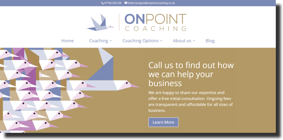 OnPoint Coaching website