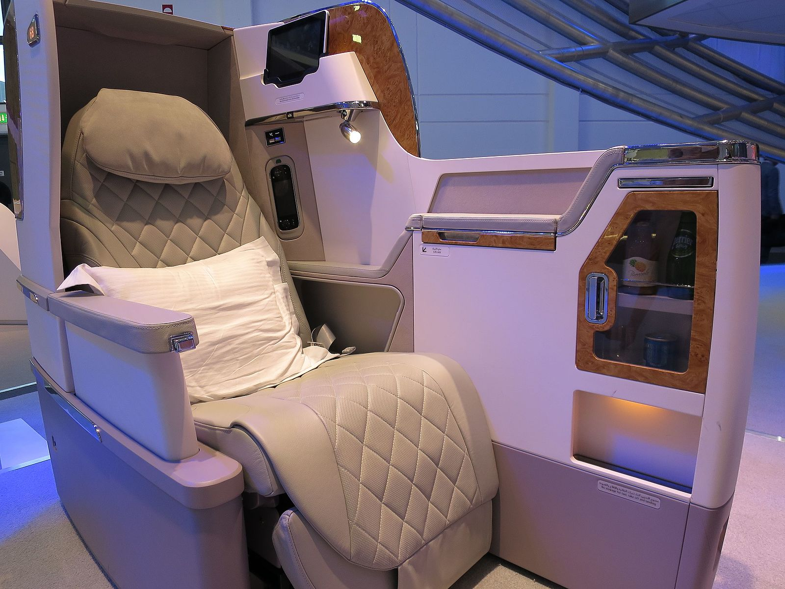 Luxury First Class Travel Seating